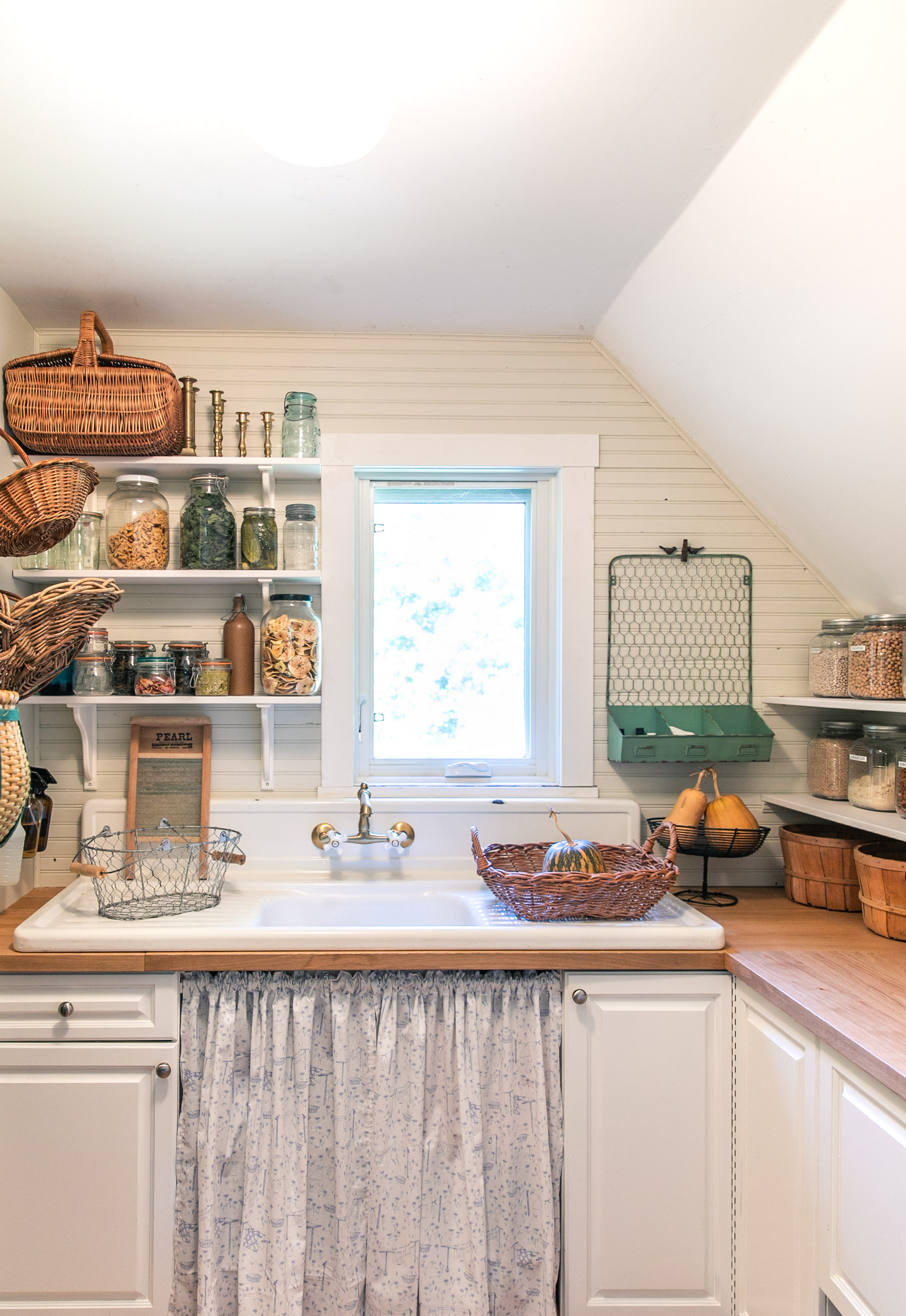 Farmhouse Laundry Room Larder Thrifted